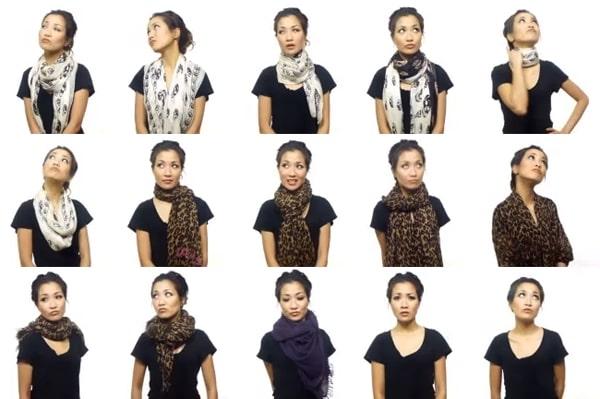 25 способов красиво завязать шарф: лайфхаки