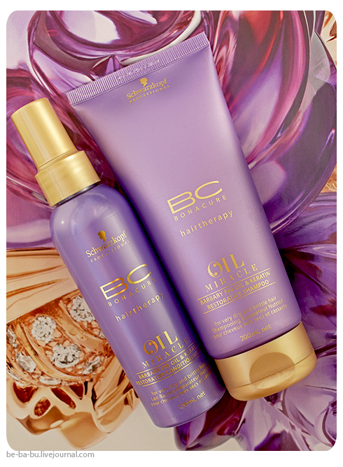 Schwarzkopf Professional BC Oil Miracle Barbary Fig Oil: Restorative Shampoo, Conditioning Milk