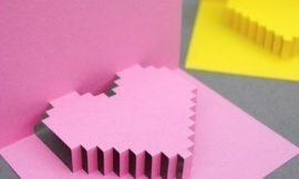 Как быстро сделать необычную 3D-открытку в виде сердца на день всех влюбленных