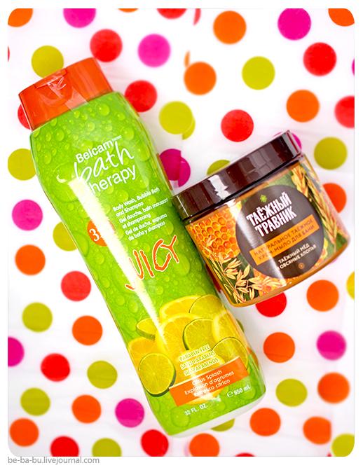 Таежный травник крем-мыло для бани и душа Таежный мед и Bath Therapy 3-in-1 Juicy Citrus Splash