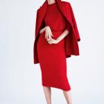 Яркий акцент в гардеробе: красный цвет. Vogue Spain December 2014