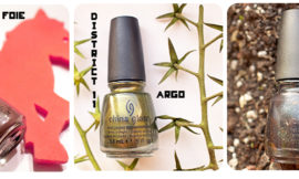 China Glaze Hunger Games Collection — Foie Gras, Agro, Smoke and Ashes. Отзыв, свотч, review, swatch