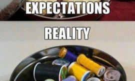 Ожидание и реальность: зима, еда, покупки, внешность)