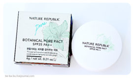 Nature Republic Botanical Pore Pact SPF25 PA++. Обзор, отзыв.