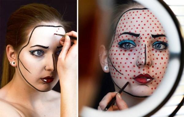Необычные образы, созданные при помощи макияжа: от Джокера до белого ходока