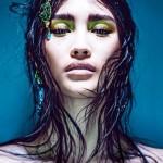 Тенденции макияжа: желтое мерцание