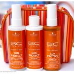 Schwarzkopf Professional BC Sun Protect – Shampoo, Shimmer Oil, Spray Condicioner. Отзыв, обзор.