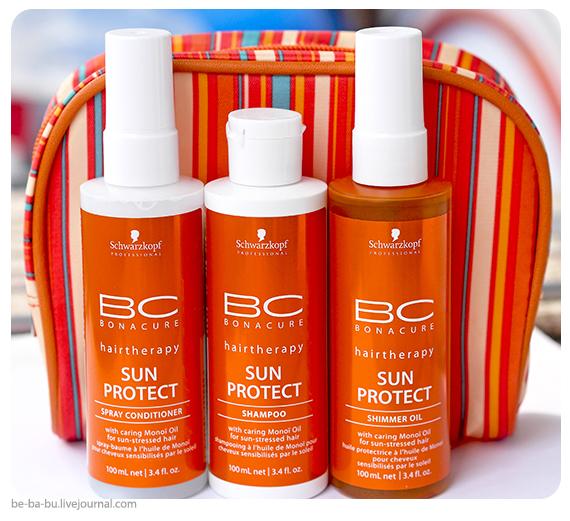 Schwarzkopf Professional BC Sun Protect - Shampoo, Shimmer Oil, Spray Condicioner. Отзыв, обзор. Состав