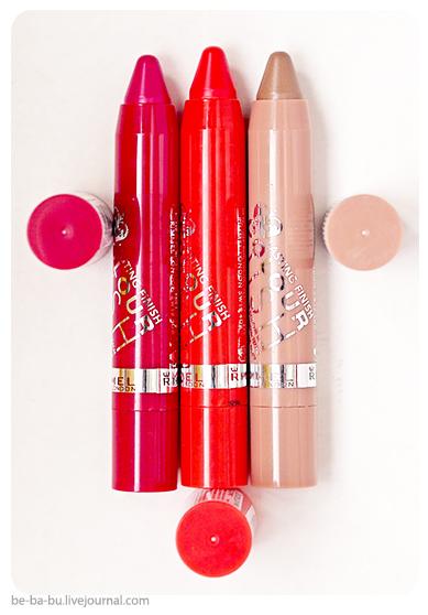 Rimmel - Помада-бальзам Lasting Finish Colour Rush. Обзор, отзыв, свотчи, фото, макияж. Swatch. Makeup. Review