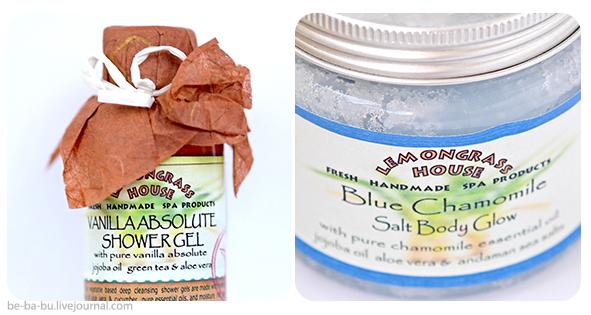 Гель для душа «Ваниль» и солевой пилинг «Голубая Ромашка» от Lemongrass House. Отзыв, обзор.