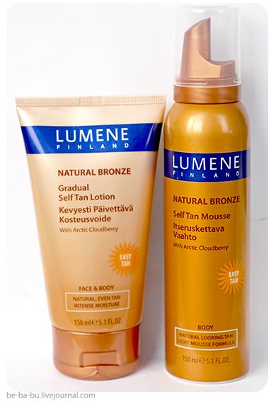 Natural Bronze Мусс-автозагар для тела и лосьон с эффектом постепенного загара от Lumene. Отзыв. Обзор.
