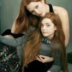 Рыжеволосые знаменитости в Vogue US August 2014