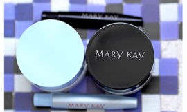 Гель-подводки для век от Mary Kay — черная и белая. Отзыв, обзор, свотчи, макияж.