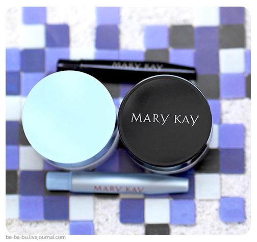 Гель-подводки для век от Mary Kay – черная и белая. Отзыв, обзор, свотчи, макияж.
