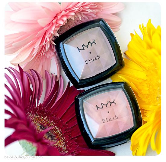 Контурируем лицо компактными румянами NYX Power Blush – Taupe, Mauve. Обзор, отзыв, свотчи, макияж.