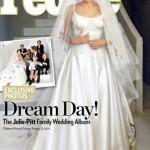 Дети разрисовали свадебное платье Анджелины Джоли