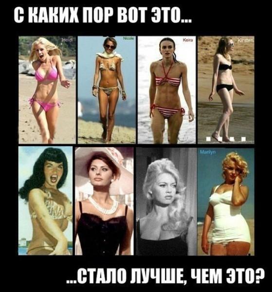 эволюция женской красоты