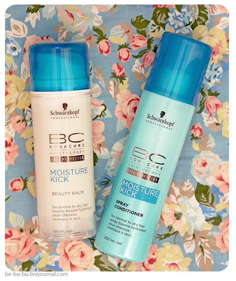 Schwarzkopf Professional BC Bonacure Moisture Kick Beauty Balm, Spray Conditioner. Отзыв, обзор, состав.