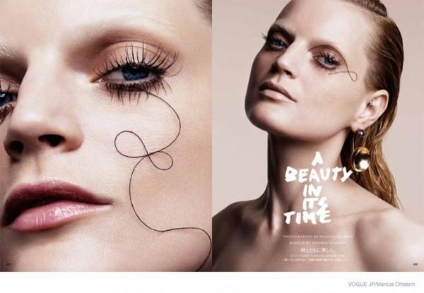 Тенденции макияжа: акцент на ресницы. Vogue Beauty Japan