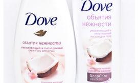Гель для душа и лосьон для тела «Объятия нежности» от Dove. Отзыв, обзор, состав.
