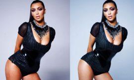 Как выглядела Ким Кардашьян до фотошопа на известной фото