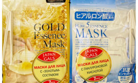 Маски Japan Gals: с «золотым» составом Essence Mask и с с гиалуроновой кислотой Pure5 Essential
