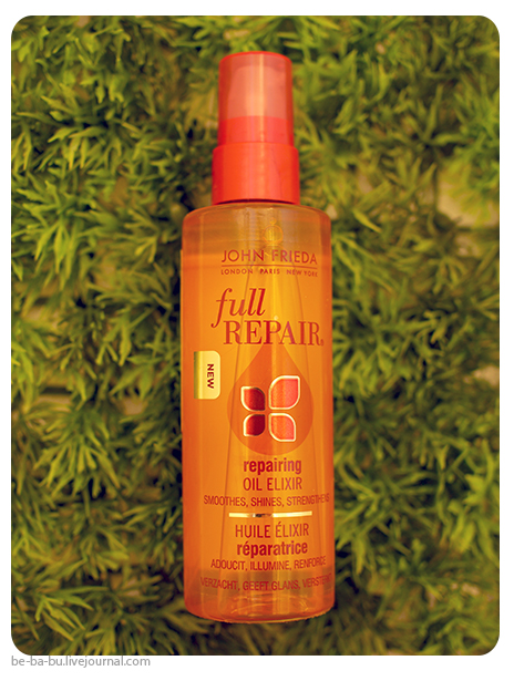 John Frieda Full Repair Repairing Oil Elixir - масло для укрепления волос. Отзыв, обзор, состав