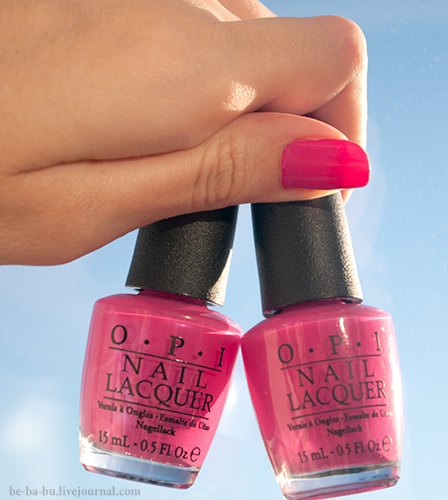 OPI Don`t Know...Beets Me! vs OPI La Paz-Itively Hot. Обзор. Свотчи.