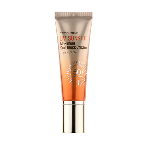 Tonymoly UV SUNSET Maximum Sun Block Cream SPF50+, PA+++. Отзыв.