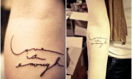 Популярные фразы для татуировок. Варианты и оформление.