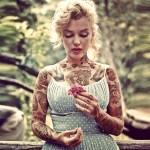 Одри Хепберн и Мэрилин Монро в татуировках, или как обновить легендарные образы