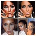 Не повторяйте этого на себе: секреты скульптурирования лица Ким Кардашьян.
