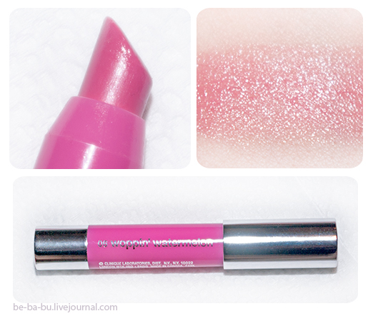 Clinique Chubby Stick Moisturizing Lip Colour Balm — Woppin' Watermelon. Отзыв, обзор, свотчи.