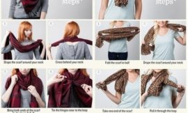 Как красиво завязать шарф: картинки и видео