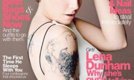 Лина Данэм на обложке апрельского Glamour US