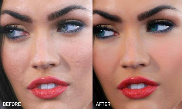 Фото знаменитостей до фотошопа и после