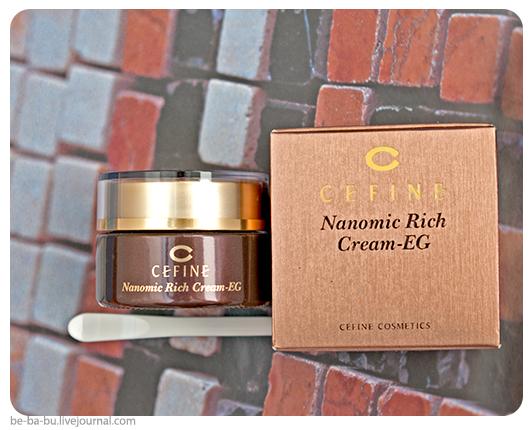 Cefine Nanomic Rich Cream-EG - Интенсивный омолаживающий крем. Отзыв, обзор.