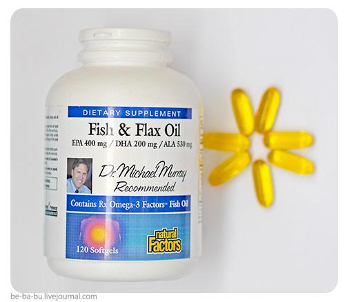 Полезное с iHerb: Рыбий жир+льняное масло от Natural Factors, Fish & Flax Oil. Обзор, отзыв.