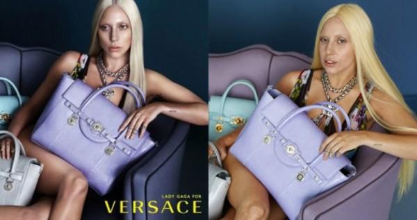 Леди Гага в рекламе Versace без ретуши