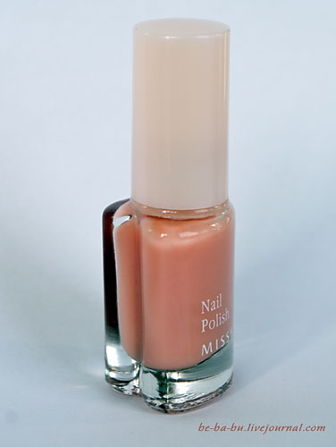 Missha The Style Nail Polish Gel Dressing No.02 Milk Tea. Отзыв.