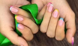 Идеи цветного французского маникюра