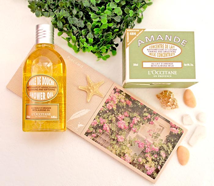 L`Occitane - Масло для душа Миндальное и молочко для упругости кожи тела Миндальное. Отзыв