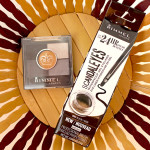 Rimmel London Glam'Eyes HD Eye Shadow 021 Golden Eye и Rimmel Scandaleyes Waterproof Gel Eyeliner 001 black