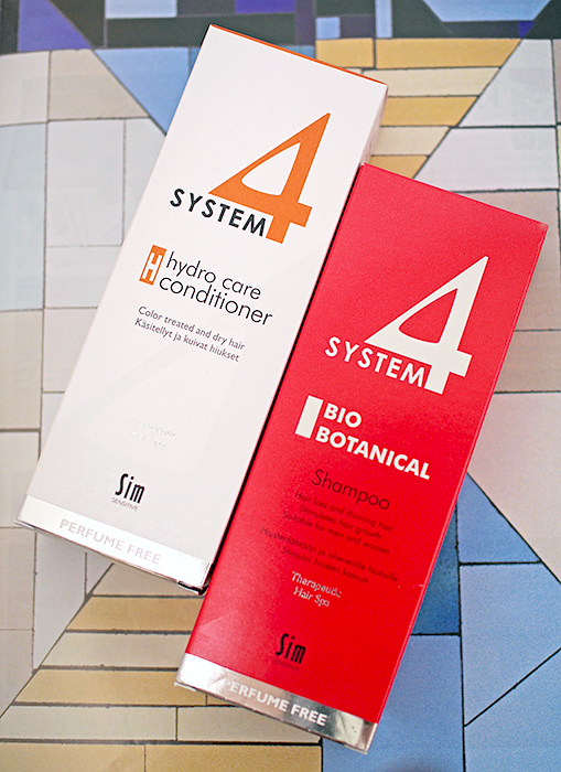 """Sim Finland Oy (System 4) - Bio Botanical Shampoo (Био Ботанический шампунь) и Бальзам """"H"""" для сильного увлажнения волос. Отзыв"""