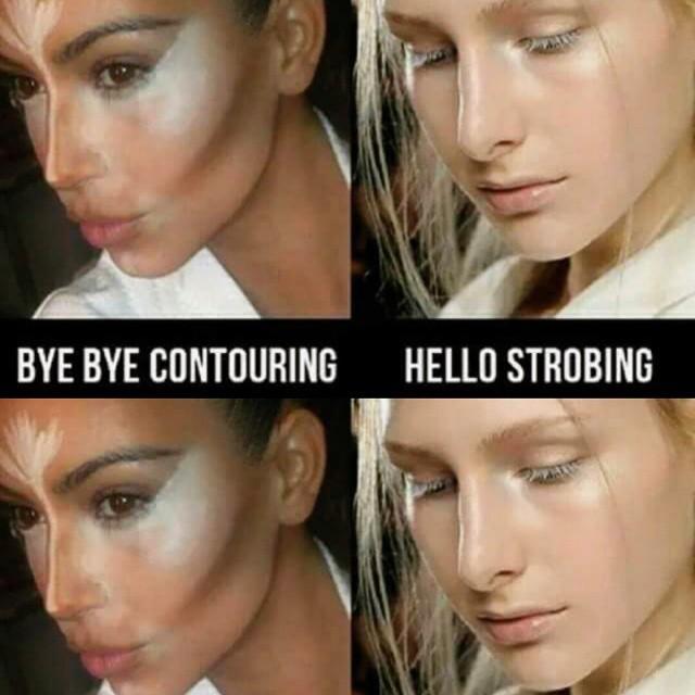 Скульптурирование в стиле Ким Кардашьян постепенно уходит в прошлое. Никому не хочется тратить на него невероятное количество времени, особенно в повседневном макияже, особенно в теплое время года. Да и зачем, если выделить акценты сейчас можно одним продуктом – хайлайтером.