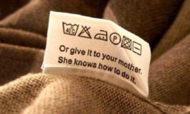 Забавные надписи на ярлыках для одежды