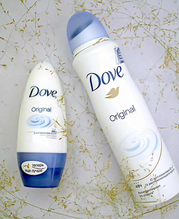 Дезодоранты-антиперспиранты Dove Original: аэрозоль и шариковый. Отзыв, сравнение