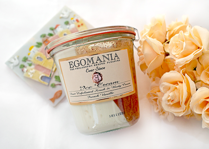 "Egomania - скраб и крем для тела ""Французская ваниль"" Ice Cream Duet Exfoliated Scrub & Body Cream. Отзыв"