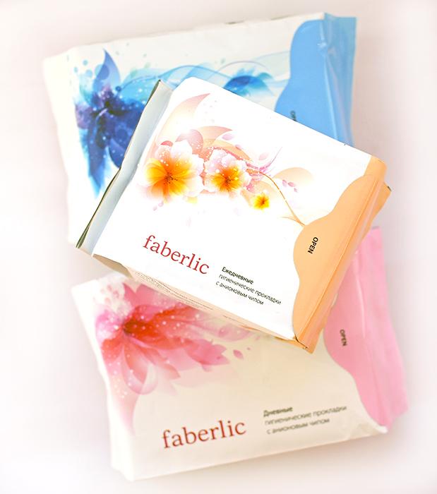 Faberlic - Гигиенические прокладки с анионовым чипом: дневные, ночные, ежедневные. Отзыв