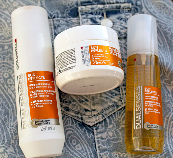 Goldwell Dual Senses Sun Reflects – After Sun Shampoo, After Sun 60 sec Treatment, UV Protect Spay. Отзыв